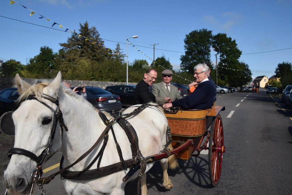 Bishop visits Kilmurry to acknowledge Fr. Harry Bohan's contribution to our community.