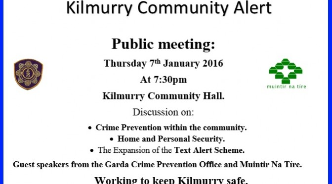 Kilmurry Community Alert Meeting 2016.