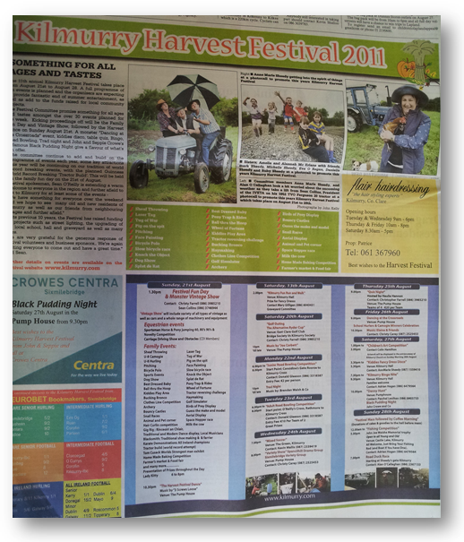 Festival 2011 Full Page Feature in todays Clare Champion