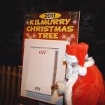 Santa Turns On The Christmas Lights..
