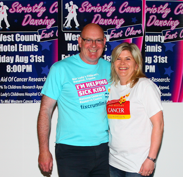 "Claire and Christy in ""Strictly Come Dancing East Clare"" to fundraise for Cancer Research"