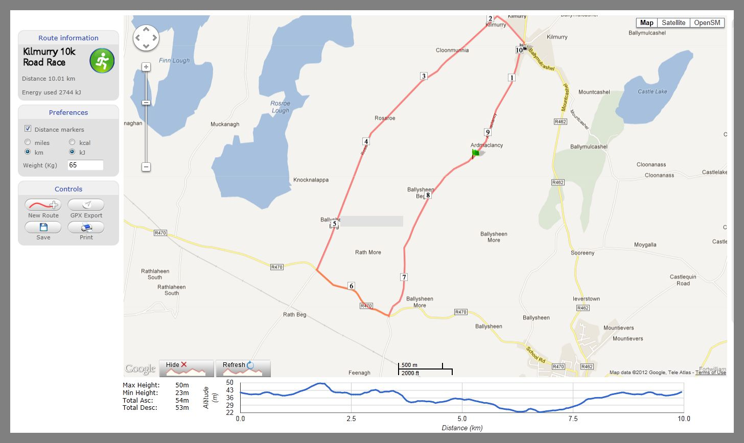 Kilmurry 10k_Route_2013