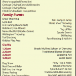 Festival Events for Sunday 11th August 2013…
