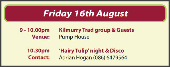 Festival Events for Friday 16th August 2013…