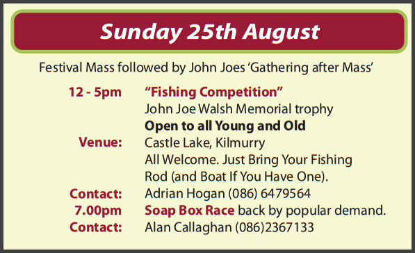 Festival Events for Sunday 25th August 2013…