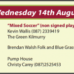 Festival Events for Wednesday 14th August 2013…