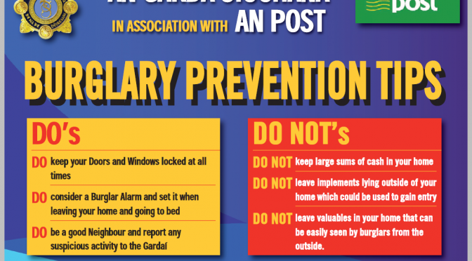 An Garda Siochana / AN POST Burglary Prevention Leaflet
