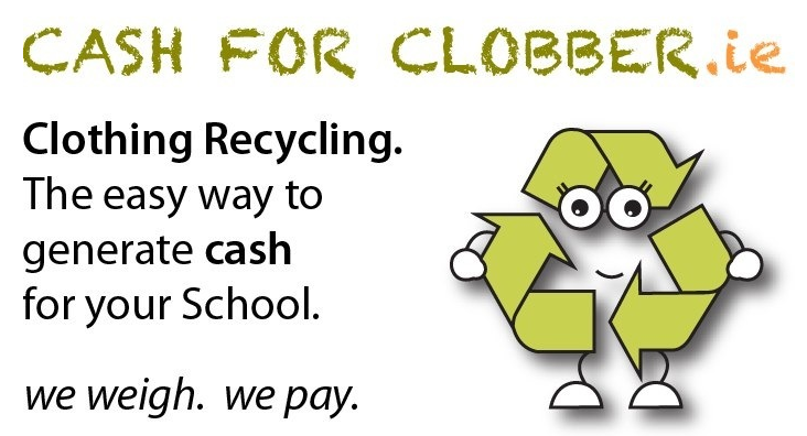Turn your old clothes and shoes into cash for Kilmurry National School with Cash for Clobber..