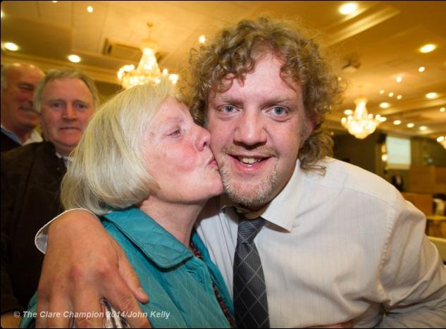 Alan Receives Congratulations from his Mother Breda.