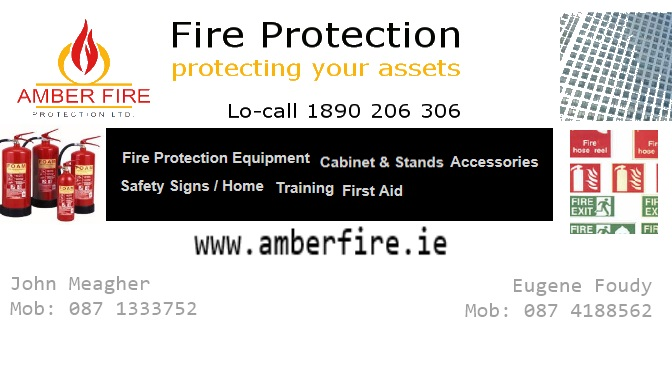 AmberFire Protection Ltd are official sponsors for Kilmurry.Com Website for Harvest Festival 2014.