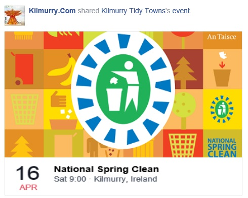 National Spring Clean 2016 in Kilmurry Saturday 16th April..